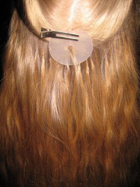 hårförlängning med keratin